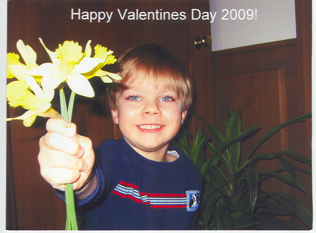 "William says ""Happy Hearts Day"""